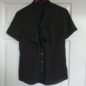 The Limited black tie blouse